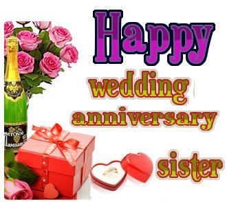 happy wedding anniversary wishes to sister   pixshark